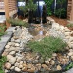 Water feature at a tradeshow