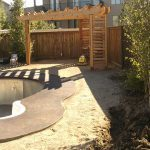 Complete landscaping job under construction