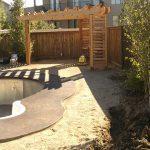 Complete landscaping job under construction